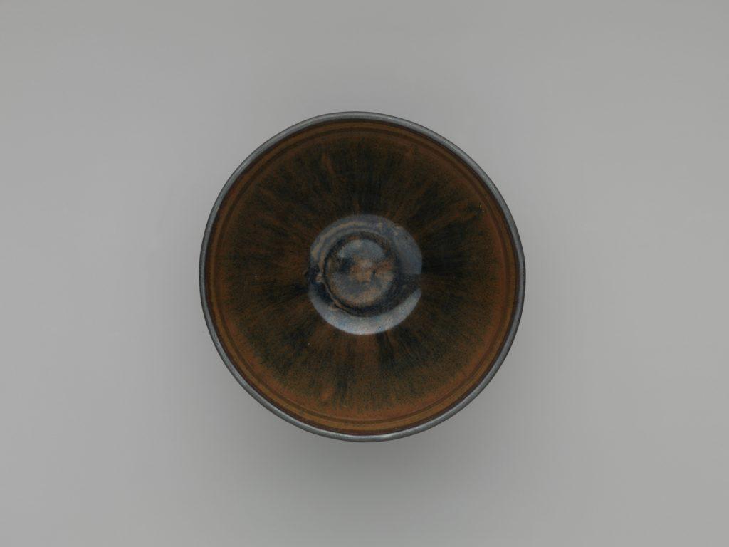 Tea Bowl with Hare's-Fur Decoration