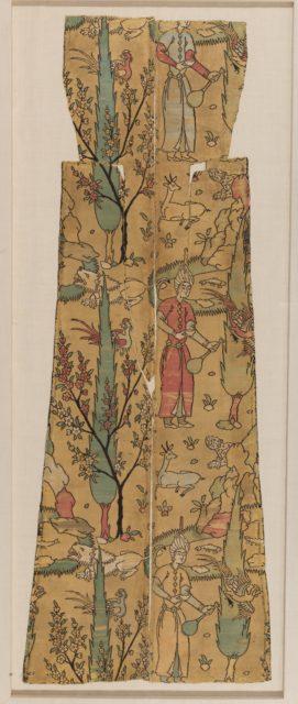 Textile Fragment Depicting a Figure in a Landscape