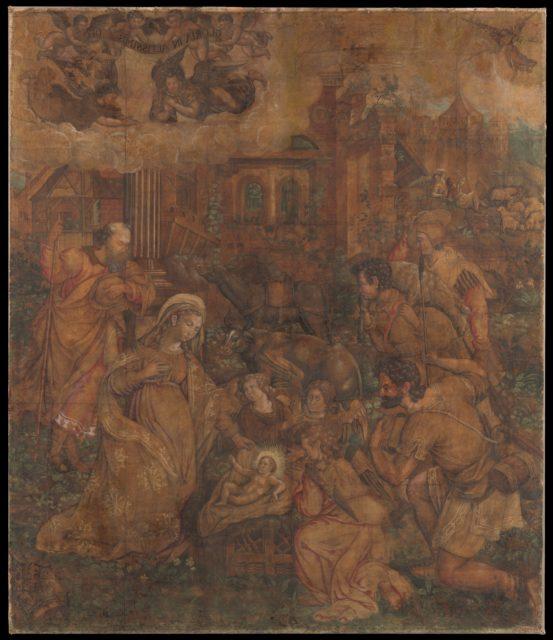 The Adoration of the Shepherds (Cartoon)