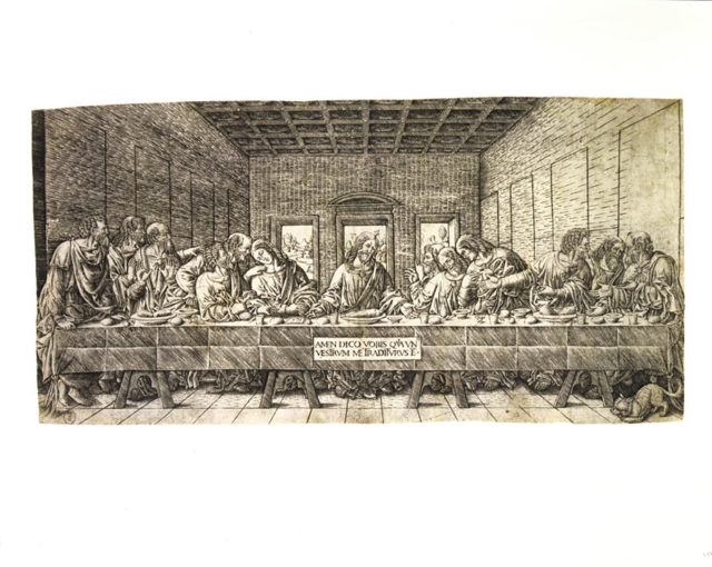 The Last Supper, with a Spaniel