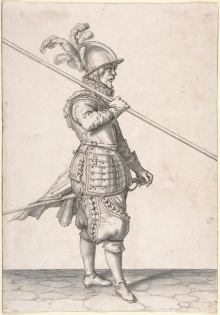 The Soldier Carrying His Pike at the Slope