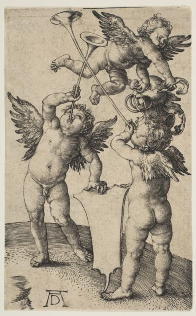 Three Putti with Trumpets