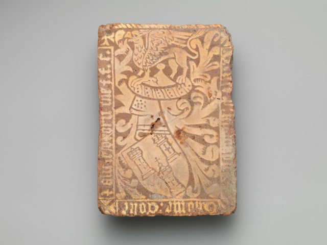 Tile with Arms of Thomas Coke