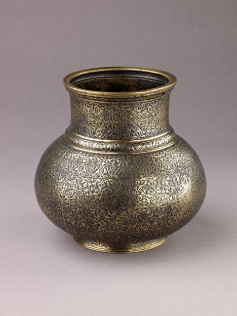 Vase with Arabesque Design