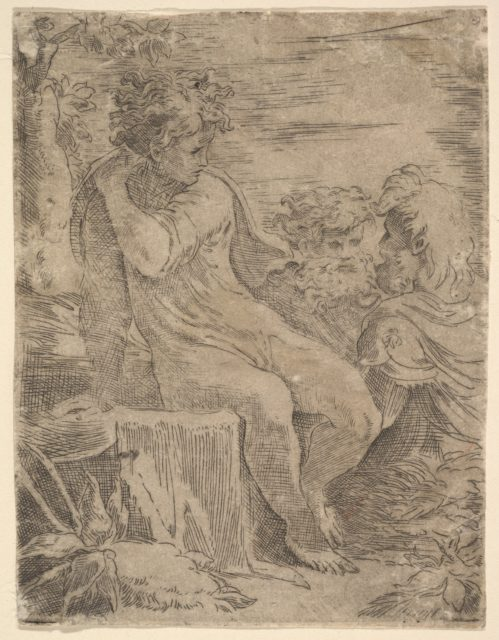 Youth with two old Men