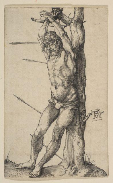 Saint Sebastian Tied to a Tree