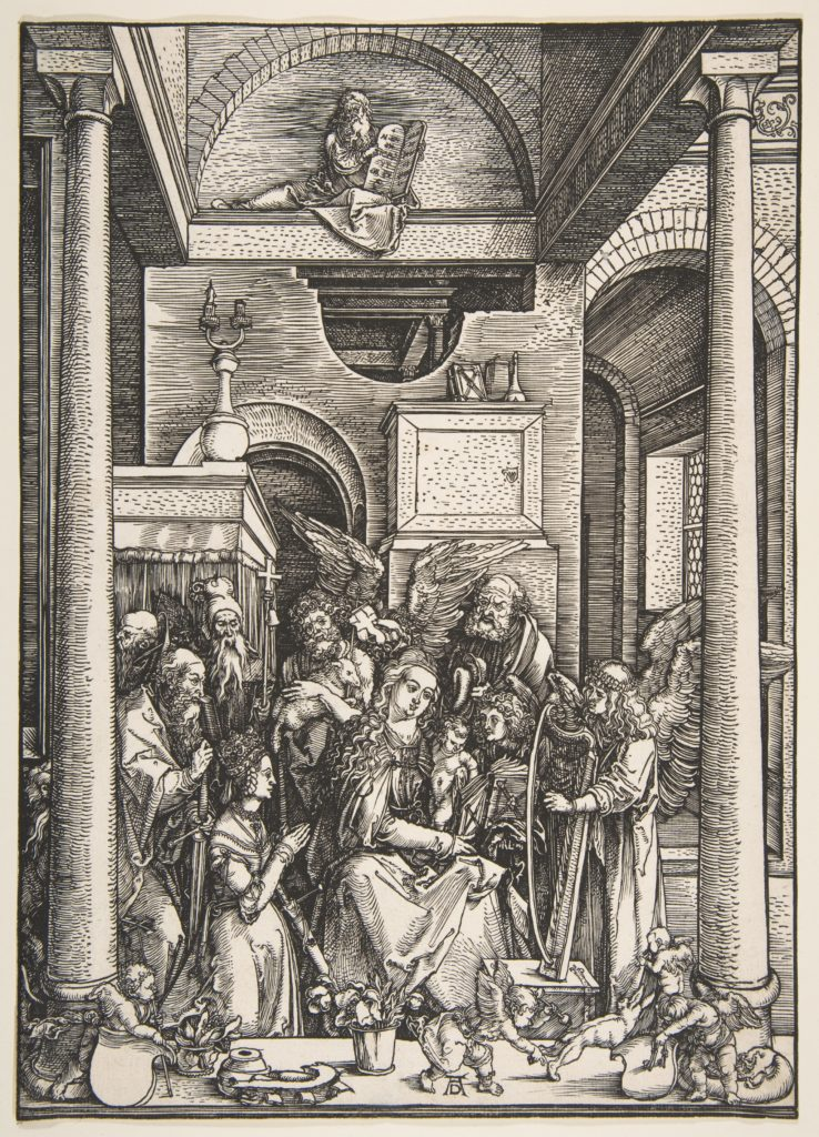 The Glorification of  the Virgin, from The Life of the Virgin