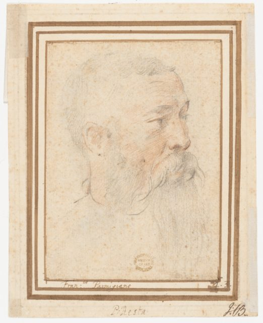 Head of Bearded Man (recto); Head of a Girl (verso)