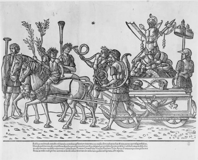 The Triumph of Caesar: Chariot with Trophy of Armor