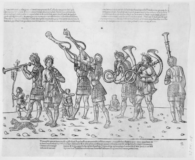 The Triumph of Caesar: Trumpeters
