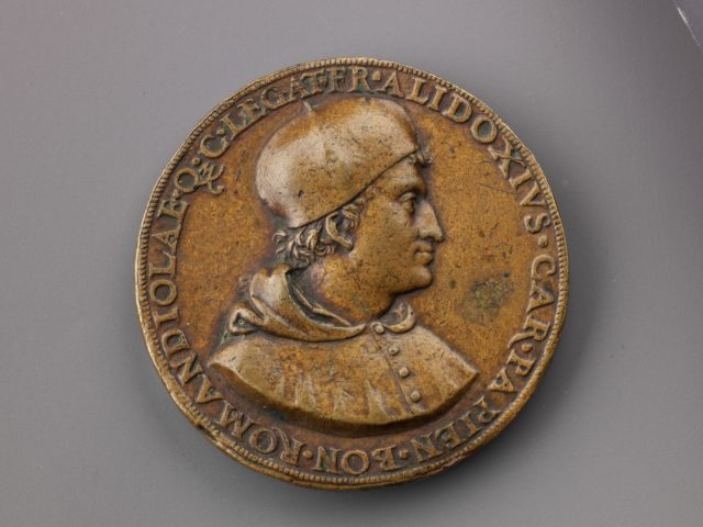 Portrait medal of Cardinal Francesco degli Alidosi (obverse); Jupiter and Signs of the Zodiac (reverse)