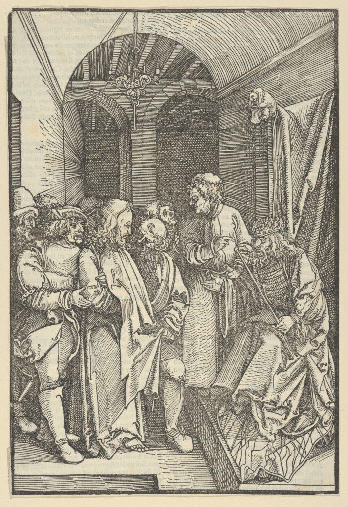Christ before Herod in a Hall, from Speculum passionis domini nostri Ihesu Christi