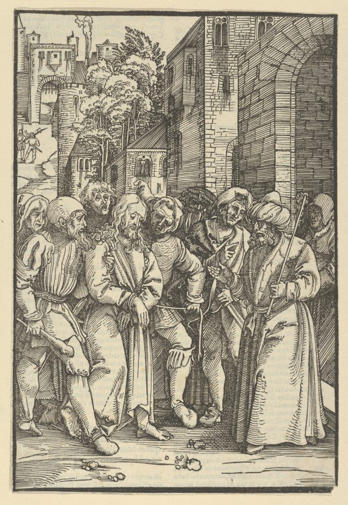 Christ before Pilate in front of his Palace, from Speculum passionis domini nostri Ihesu Christi