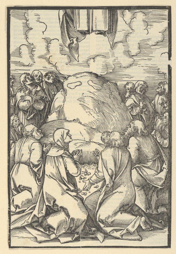 The Ascension of Christ, from Speculum passionis domini nostri Ihesu Christi