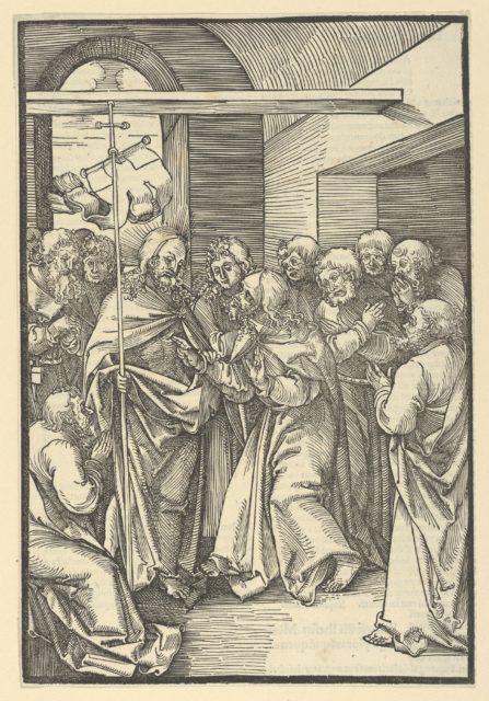 The Incredulity of Thomas, from Speculum passionis domini nostri Ihesu Christi
