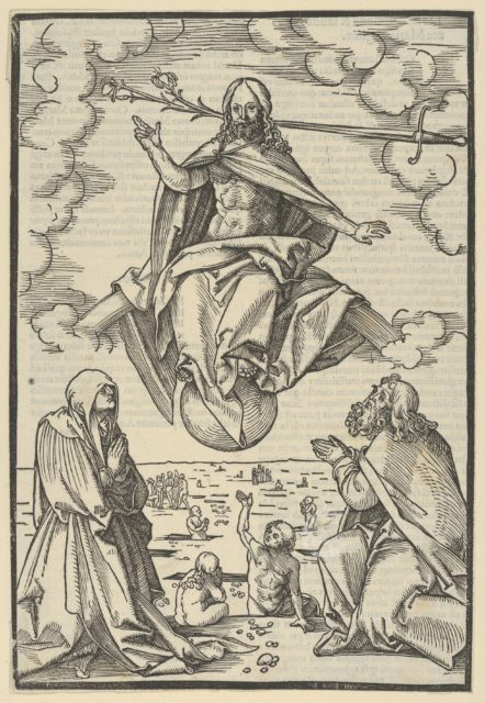 The Last Judgment, from Speculum passionis domini nostri Ihesu Christi