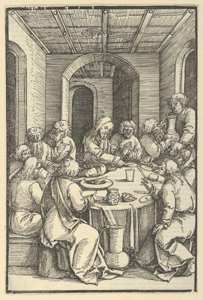The Last Supper, from Speculum passionis domini nostri Ihesu Christi