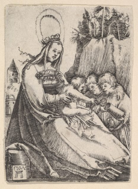 Virgin and Child with Two Boys