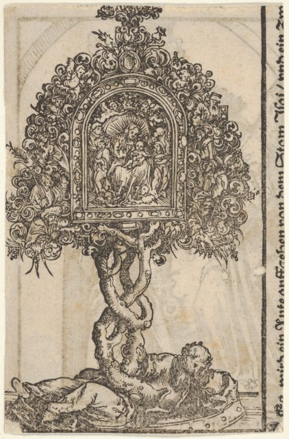 A Golden Reliquary with the Tree of Jesse, from the Large Series of Wittenberg Reliquaries