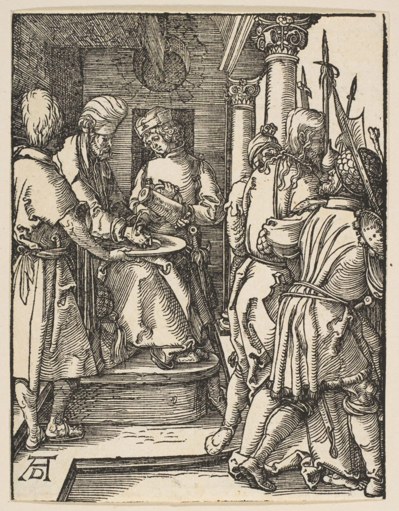 Pilate Washing His Hands, from The Small Passion