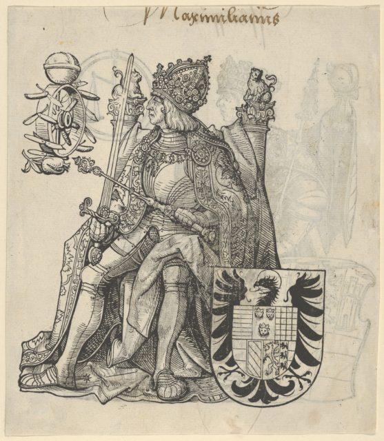 Recto of a Sheet with Maximilian, from The Genealogy of Emperor Maximilian I