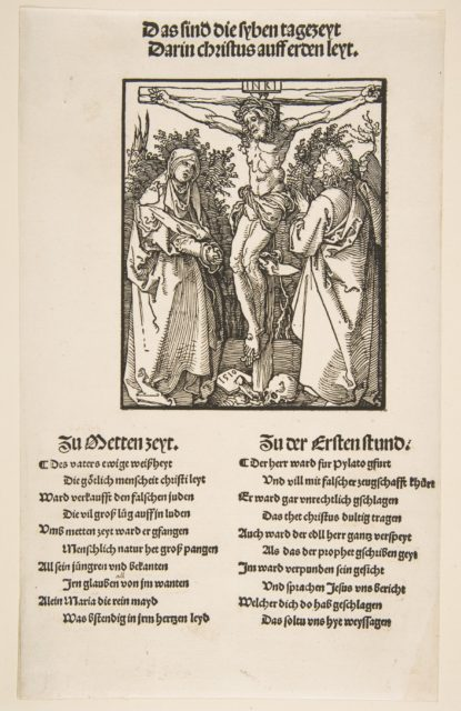 Christ on the Cross between the Virgin and Saint John (first sheet of two)
