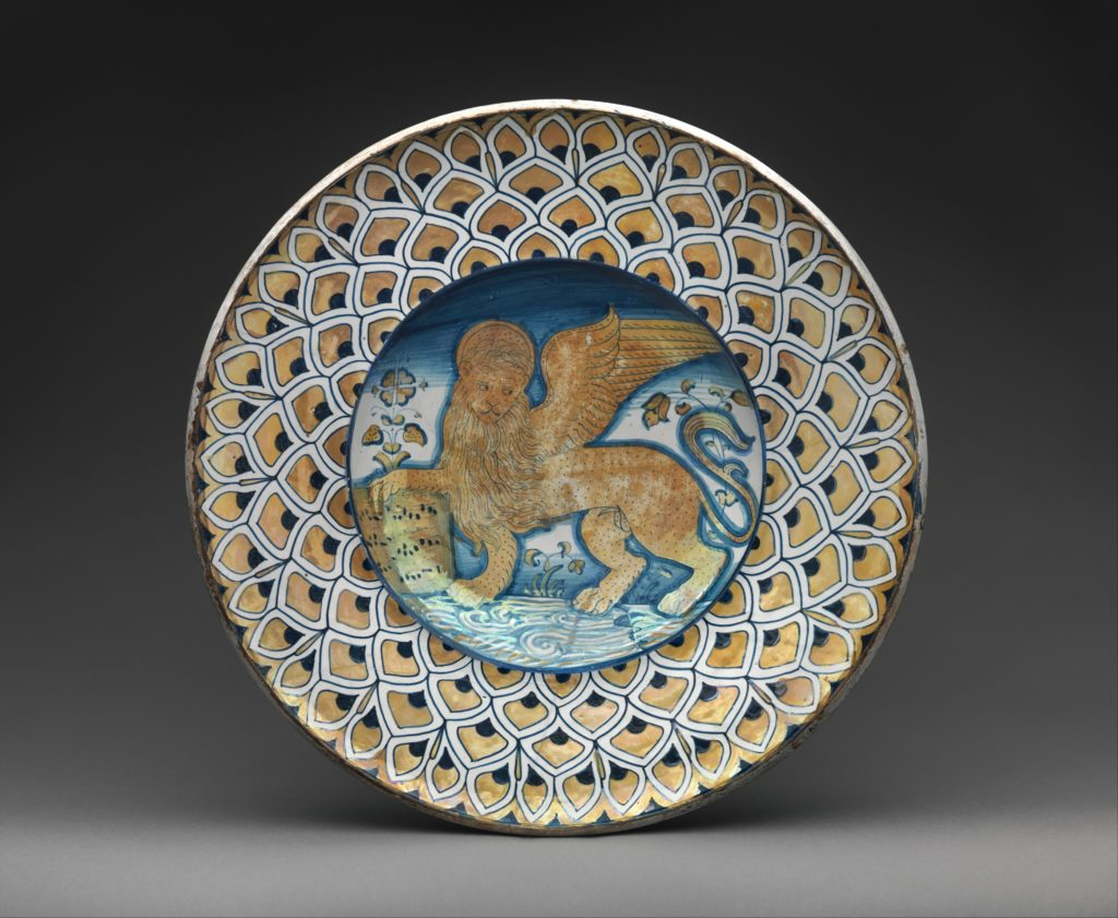 Dish with Lion of Saint Mark