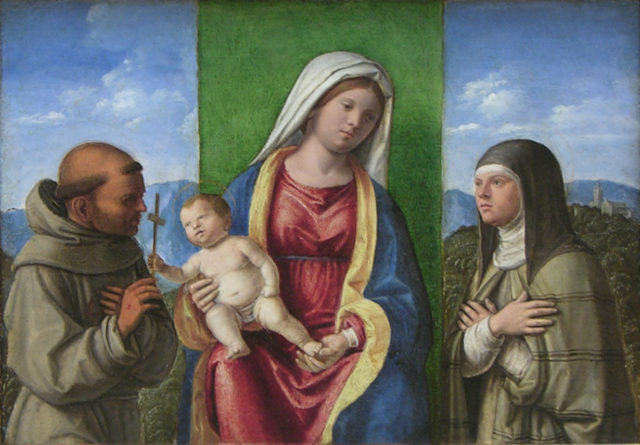 Madonna and Child with Saints Francis and Clare
