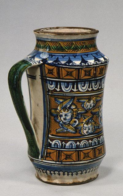One-handled storage jar (albarello)