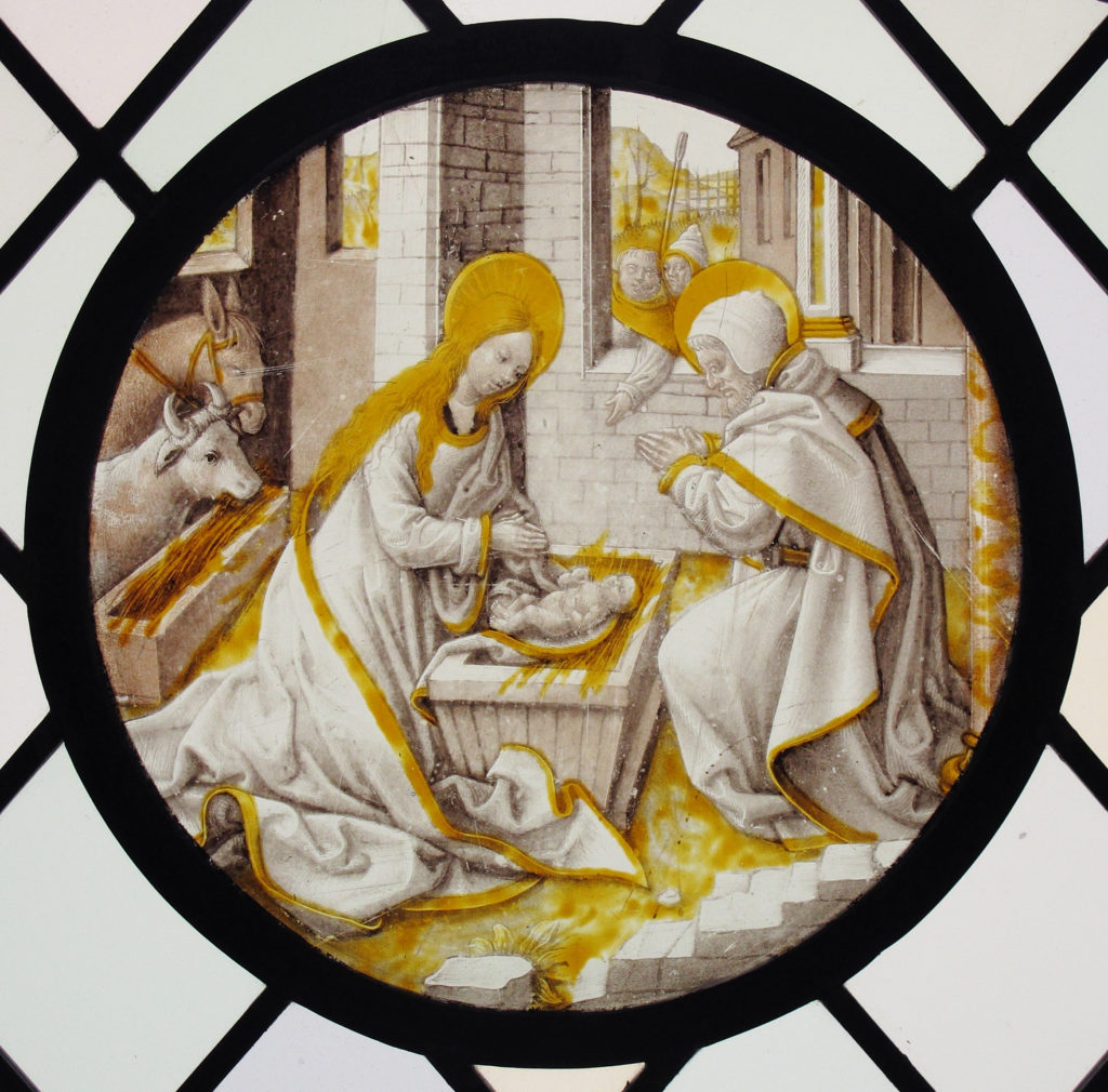 Roundel with the Nativity