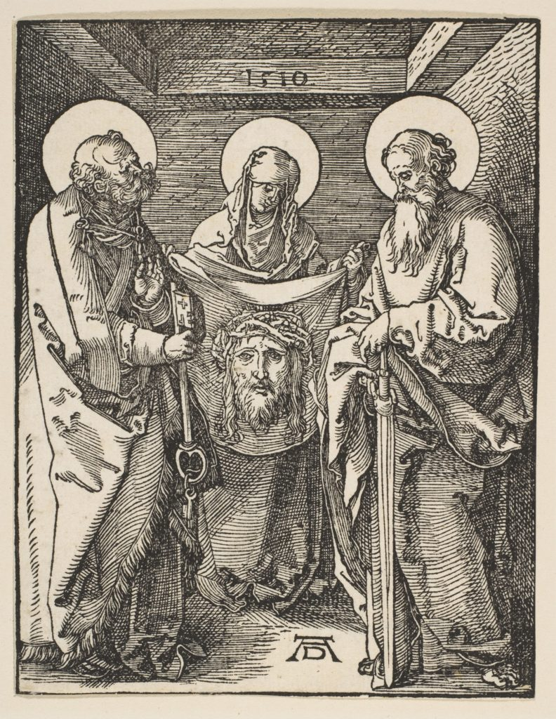 Saint Veronica between Saints Peter and Paul, from The Small Passion