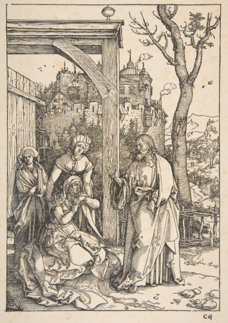 Christ Taking Leave of His Mother, from The Life of the Virgin, Latin Edition, 1511