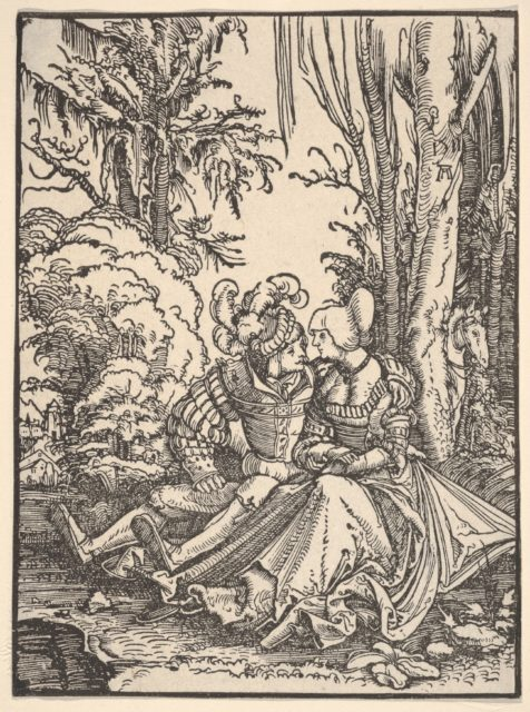 Pair of Lovers in the Forest