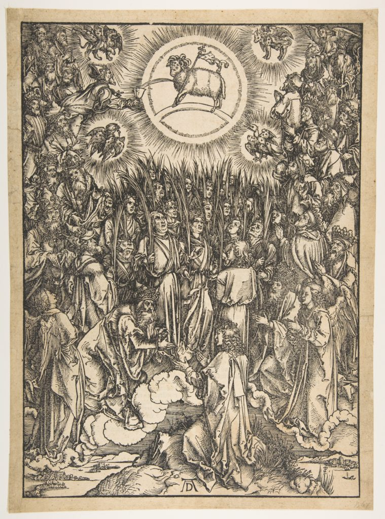 The Adoration of the Lamb, from The Apocalypse, Latin Edition, 1511