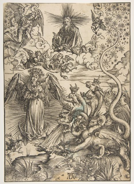 The Apocalyptic Woman, from The Apocalypse, Latin Edition, 1511