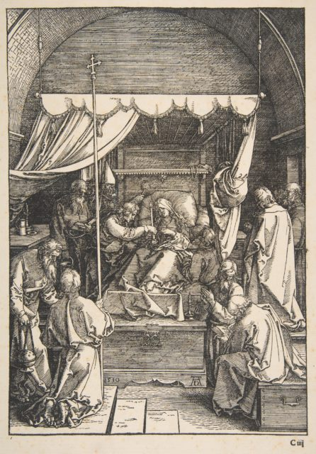 The Death of the VIrgin, from The Life of the Virgin, Latin Edition, 1511