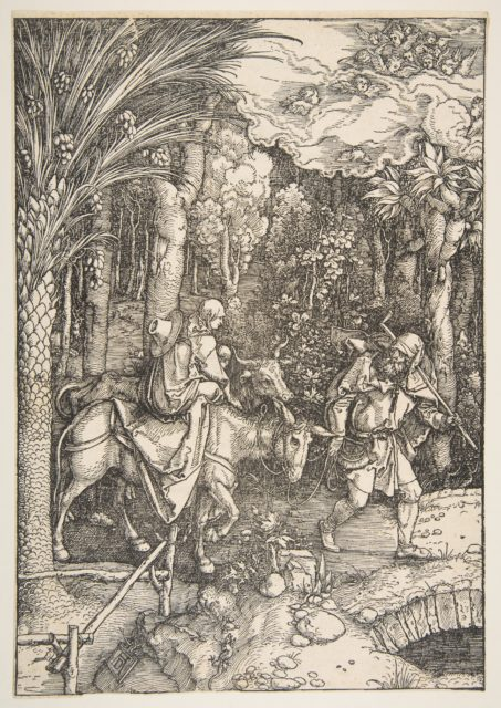 The Flight into Egypt, from The Life of the Virgin, from the Latin Edition