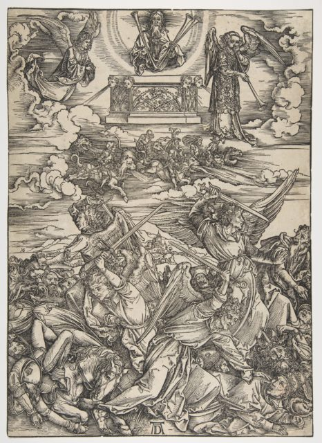 The Four Avenging Angels, from The Apocalypse, Latin Edition 1511