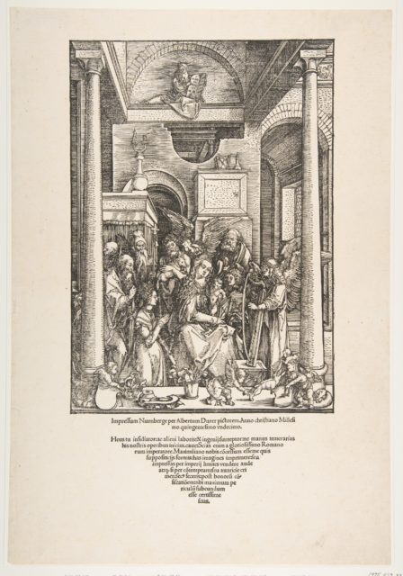 The Glorification of the Virgin, from The Life of the Virgin, Latin Edition, 1511