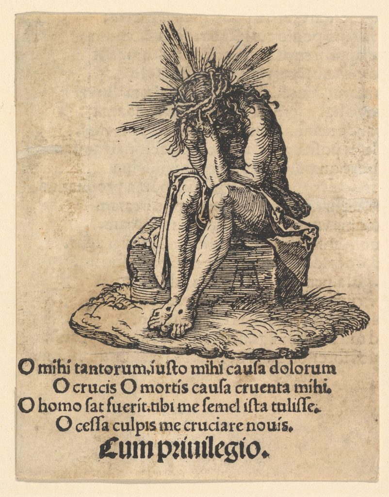The Man of Sorrows Seated, title page of The Small Passion
