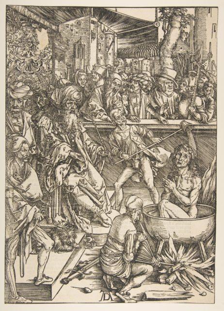 The Matyrdom of Saint John, from The Apocalypse, Latin Edition, 1511