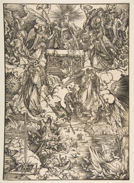 The Seven Angels with the Trumpets, from The Apocalypse, Latin Edition, 1511