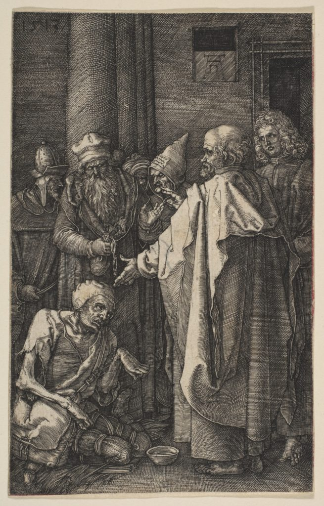 Saint Peter and Saint John at the Gate of the Temple, from The Passion