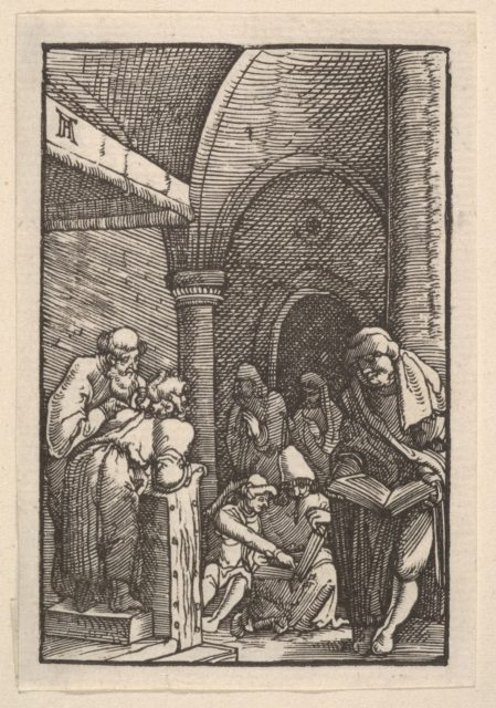 The Dispute in the Temple, from The Fall and Salvation of Mankind Through the Life and Passion of Christ