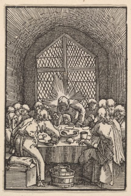 The Last Supper, from The Fall and Salvation of Mankind Through the Life and Passion of Christ