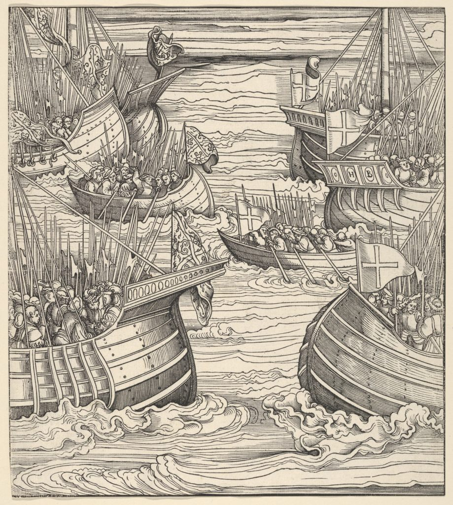 The Voyage of the White King Against the Turks, from Der Weisskunig