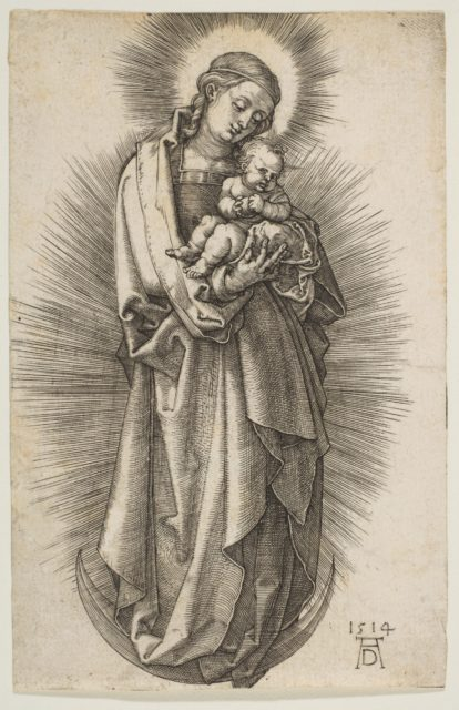 Virgin and Child on the Crescent with a Diadem