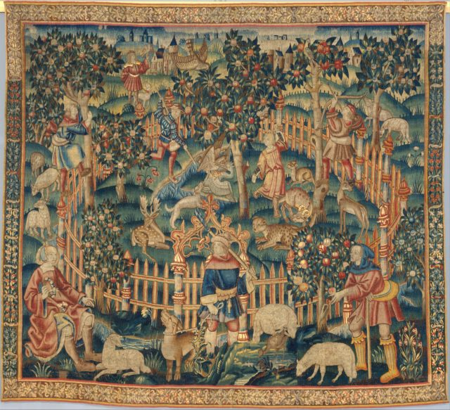 Hunting of Birds with a Hawk and a Bow (from the Hunting Parks Tapestries)