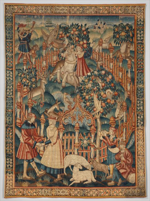 Hunting with a Hawk (from the Hunting Parks Tapestries)