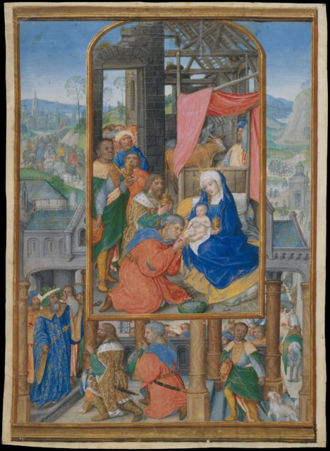 Manuscript Illumination with Adoration of the Magi
